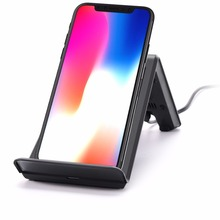 Charging Holder Fast QI Wireless Charger for iPhone for Apple iPhone X/ iPhone 8 mobile phones dock charging station