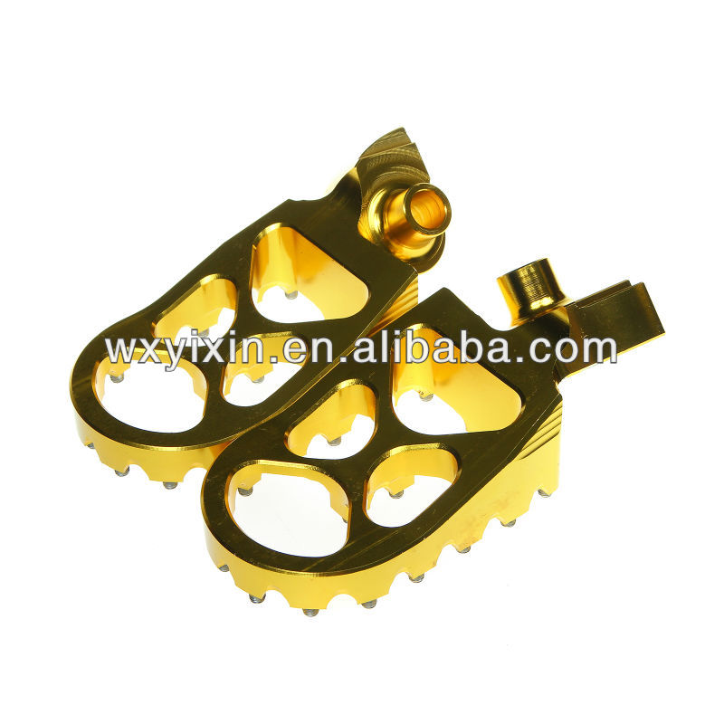 CNC billet dirt bike Wider Motorcycle Footpegs Footrest Foot peg For YZ250 YZF250 YZF450