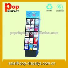 Retail Corrugated Paper POP Display For Book, Book Shelf (POP-122BP)