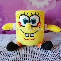 Hot selling plush funny cute pencil pen holder for kids