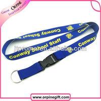 Cheap Custom lanyard ribbon keychain