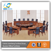 2016 luxury solid wood round goverment KD conference table design GAM7835