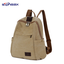 Vintage Men Casual blank canvas backpack