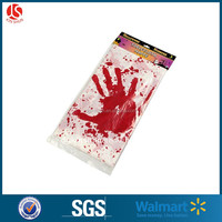 "HALLOWEEN Decoration Plastic Scray Red BLOODY HANDPRINTS Zombie CSI Table Cover Tablecloth Nappe 54"" x 108"""