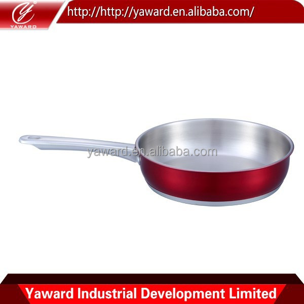 High Quality Copper Bottom Stainless Steel Fry pan