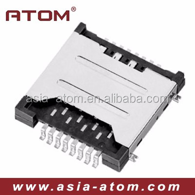 New 8pin dual sim card socket sim card tray socket holder