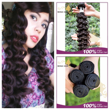 Double weft hair extension curly wave, 7A high design unprocessed raw virgin indian hair curly