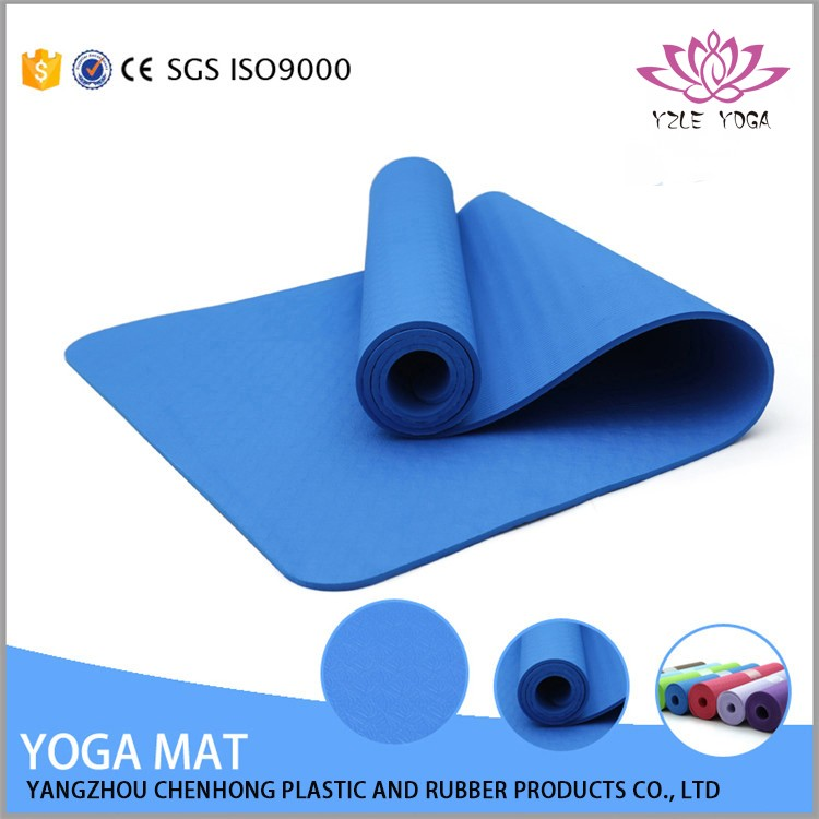 Eco customized printed TPE hanging holes yoga mat on rolls
