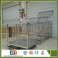 Various size of square tube folding metal Dog kennel for sale