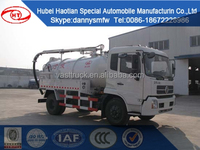 Cheaper price for 4x2 Vacuum Sewage Suction Trucks with Vacuum Pump 4cbm 4000L Sewel Jetting waste Water tanker truck