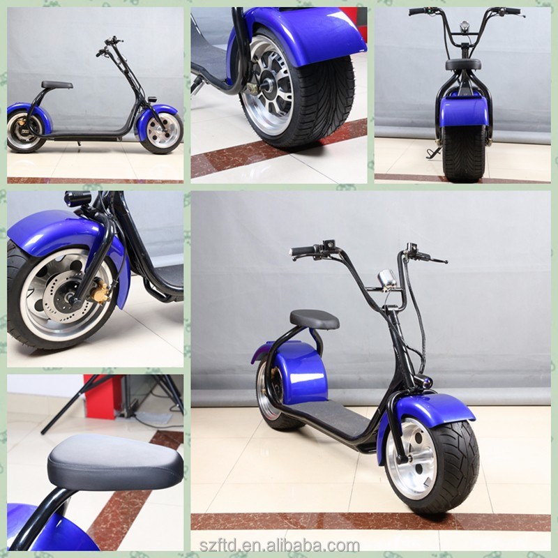 2016 new product citycoco moped scooter 2 wheeler rough road e city scooter/ adult mobility electric motorcycle