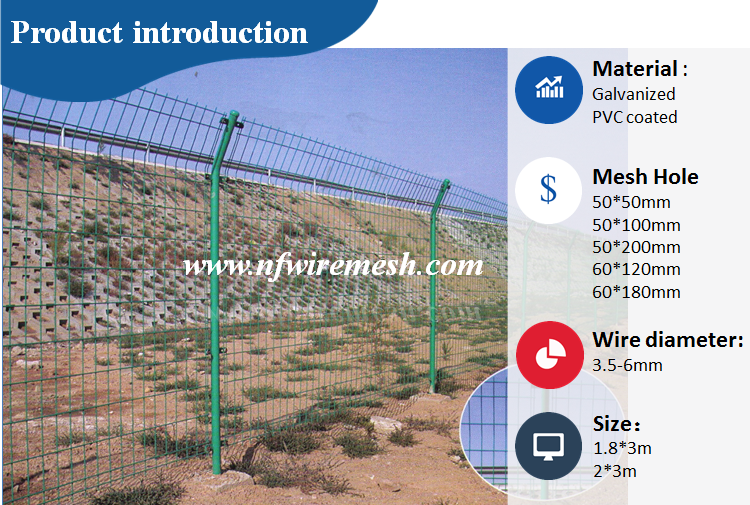 Galvanized and PVC coated panel 3d plastic rabbit proof flower garden fence(Guangzhou Factory)