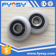 factory supply nylon plastic pulley track wheels 608zz 696rs 688rs wooden sliding door roller
