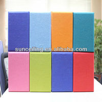 various fabric wrapped sound absorption acoustic wall panel decoration for night club