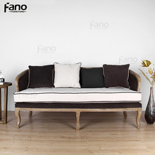 high quality italian antique style wooden luxury 3 seater sofa