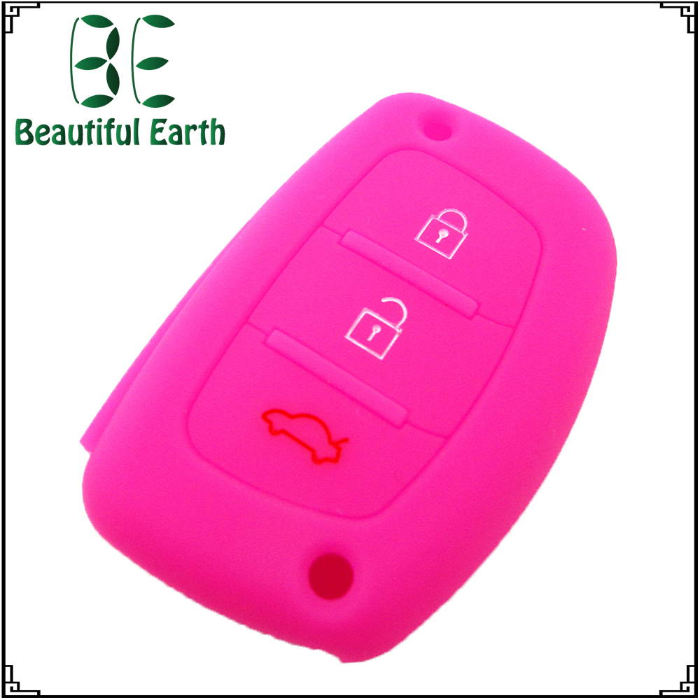 Silicone car key frequency for hyundai i35 key cover replacement
