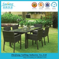 Popular Wicker Table And Chair Combination Furniture