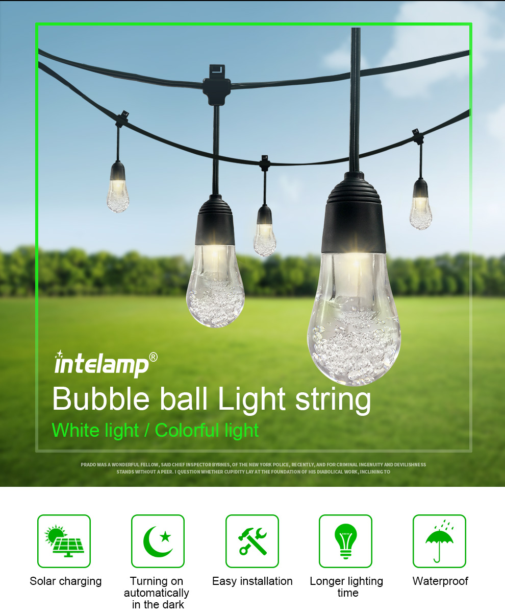 perfect!! solar light with all in one LED string lamp using home decoration
