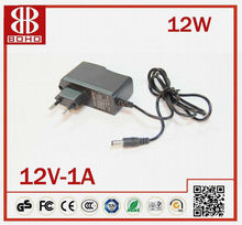 hot sell cheap price 12V 1A DC power LED strip adapter 2012 CE