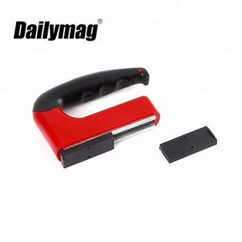 100LBS Permanent Rubber Handle Magnet Lifter - Magnetic Craft Tool Lifting Plates 261100 Dailymag