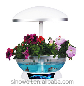 electronic mini flower Garden smart fish tank Aquarium/Water Garden Self Cleaning Fish Tank