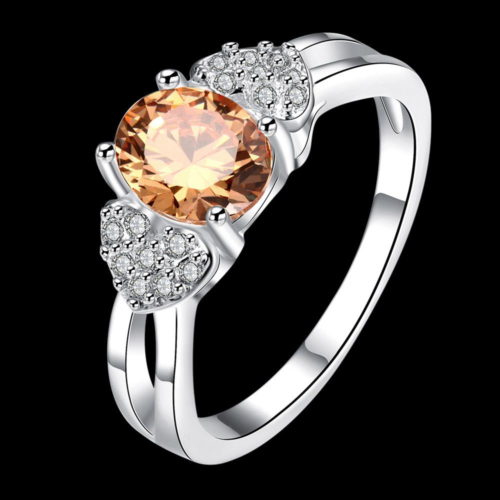 Women AAA Zircon Engagement Jewelry Crystal Ring White Gold Filled 925 Sterling Silver Jewellery Wedding Rings for Women & Men