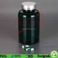 400ml Plastic Wholesale Pill Packaging Bottle Holder with Aluminum Cap