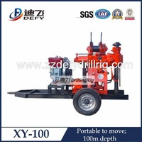 100m deep popular by home use XY-100 truck mounted water well drilling rigs for sale
