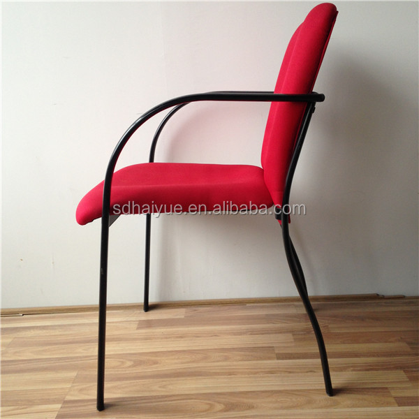 High Quality School Furniture Chair Red Fabric Library Reading Chair