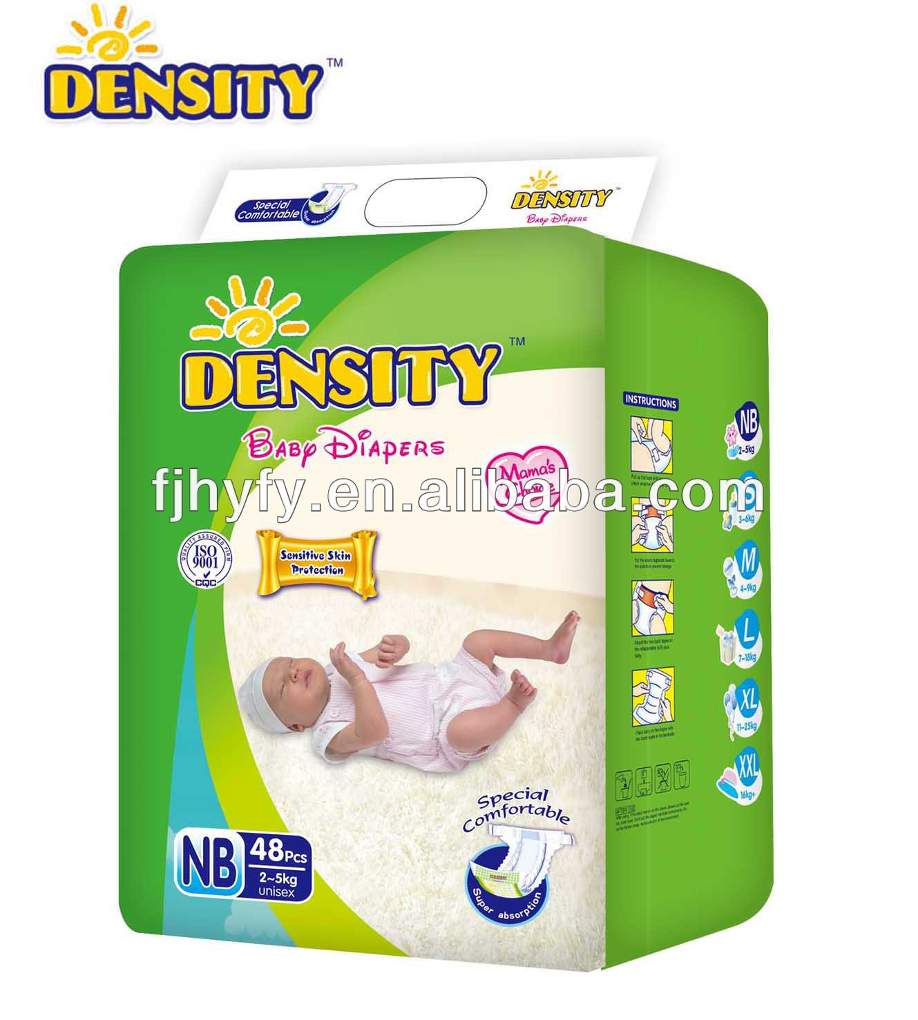 Disposable Baby Diapers, with NB size, Super soft perforated cotton fibre surface, Sumitomo SAP, magic tape