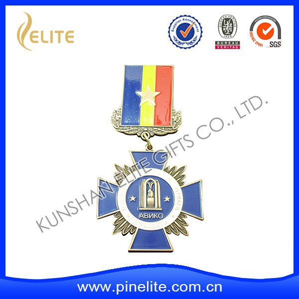 custom logo cheap sports medals with ribbon,medals made in china for sale