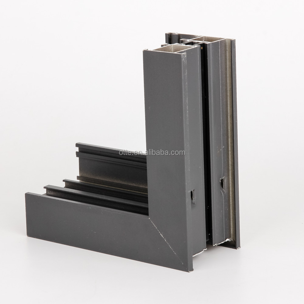 broken cut off powder spraying aluminum extrusion profiles for window