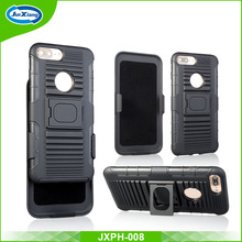 2017 hot sale pc tpu belt clip holster case for iphone 6 6 plus with kickstand