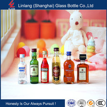 Factory price mini vodka bottle , rum glass bottle , sample size wine bottle