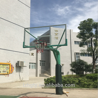 High quality fiberglass basketball pole and backboard for school