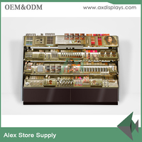 Retail beauty supply store shelf make up shelf display for cosmetic shop