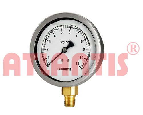 (SC) Stainless steel case Glycerin Filled Pressure Gauge