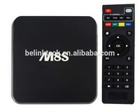 2015 Best sell amlogic s802 Full HD Media Player Quad Core Android smart tv box m8s