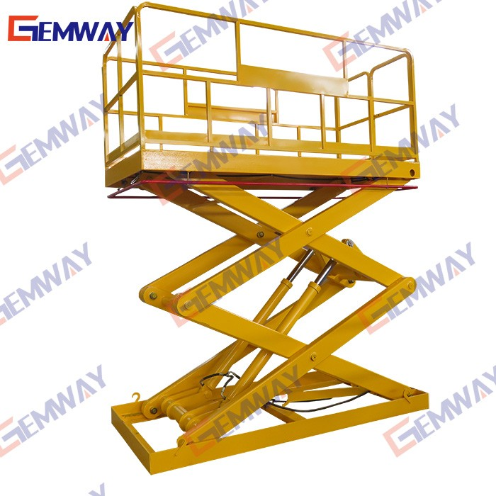 3ton Stationary cargo scissor hydraulic pipe lift for sale