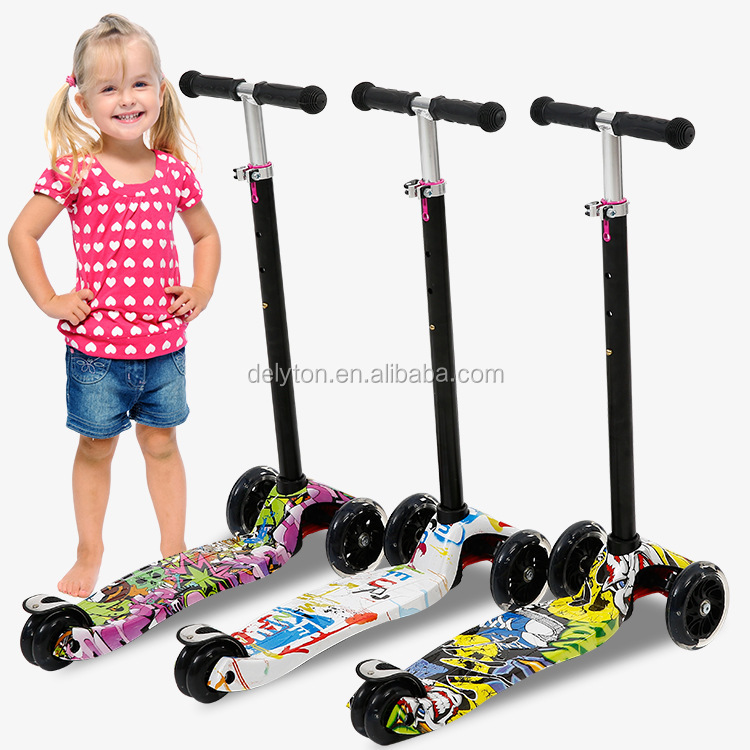 Graffiti personality Aluminum foldable scooter for kid