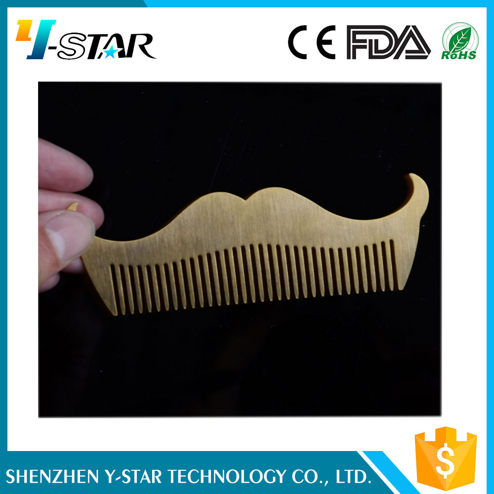2017 NEW 304 taineless steel barber shop beard comb supplier , facial hair shaping tool metal