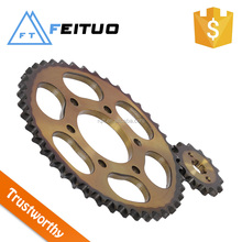 bajaj pulsar motorcycle sprocket and chain golden version