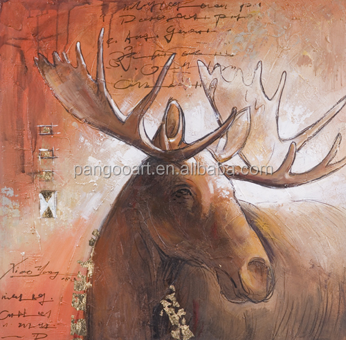 Hand painted Spotted deer oil painting African Savannah Animal Oil Painting