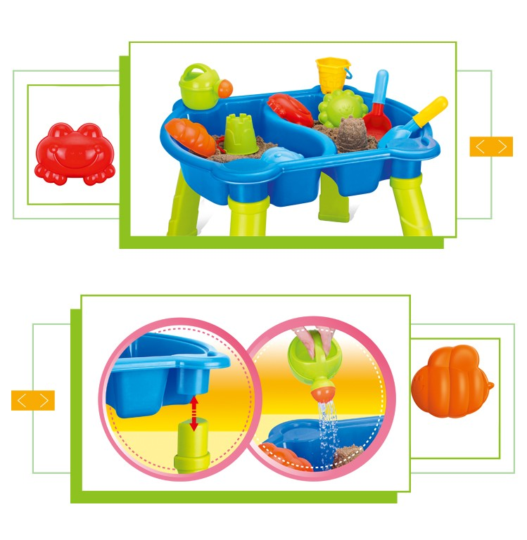 Best selling summer outdoor mini sand and water play folding beach table