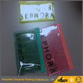 customized printed pencil plastic packaging bags with teeth zipper and logo printing