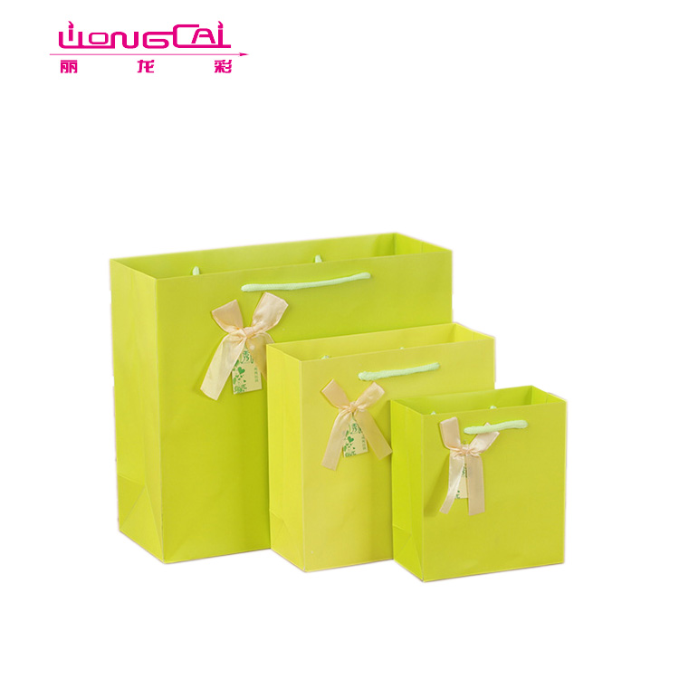 Fancy Bright Color Beach Swimwear Packaging Paper Gift Bag For Bikini