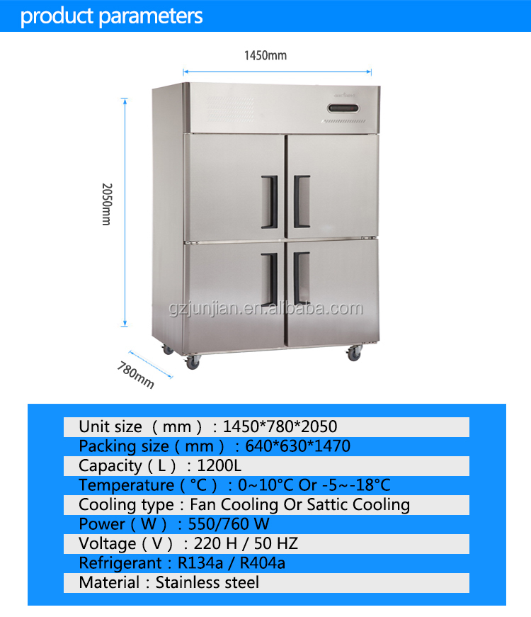 CHEERING Commercial Freezer Refrigerator in guangzhou manufacturers