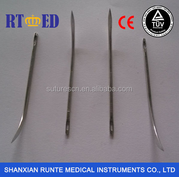 Veterinary Use Stainless Steel Half Curved Post Mortem Postmortem Needles