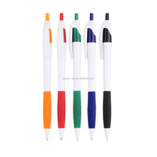 Promotion white pen barrel Roller Pen color trims Ballpoint Pen
