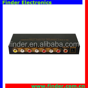 5.1 analog converter 5.1 audio decoder digital audio decoder supports Dolby digital (AC3), DTS, LPCM